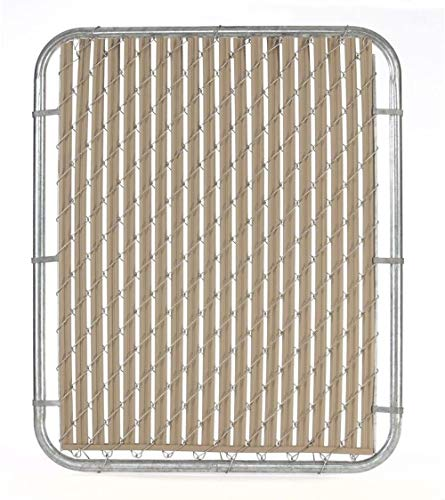 Blue_Bright Chain Link Fence Slat Weather Resistant Casa Verde 6 ft. Composite Dual-Point Locking System Beige ()