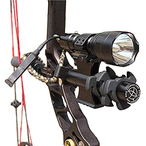 (Gazelle-Trading Tactical C8T6 1200 lumen Archery Compound Bow Sight Flashlight with Damper Mount)