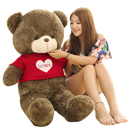 MorisMos Giant Teddy Bear with Love Sweater Sweatheart Plush Stuffed Animals 39