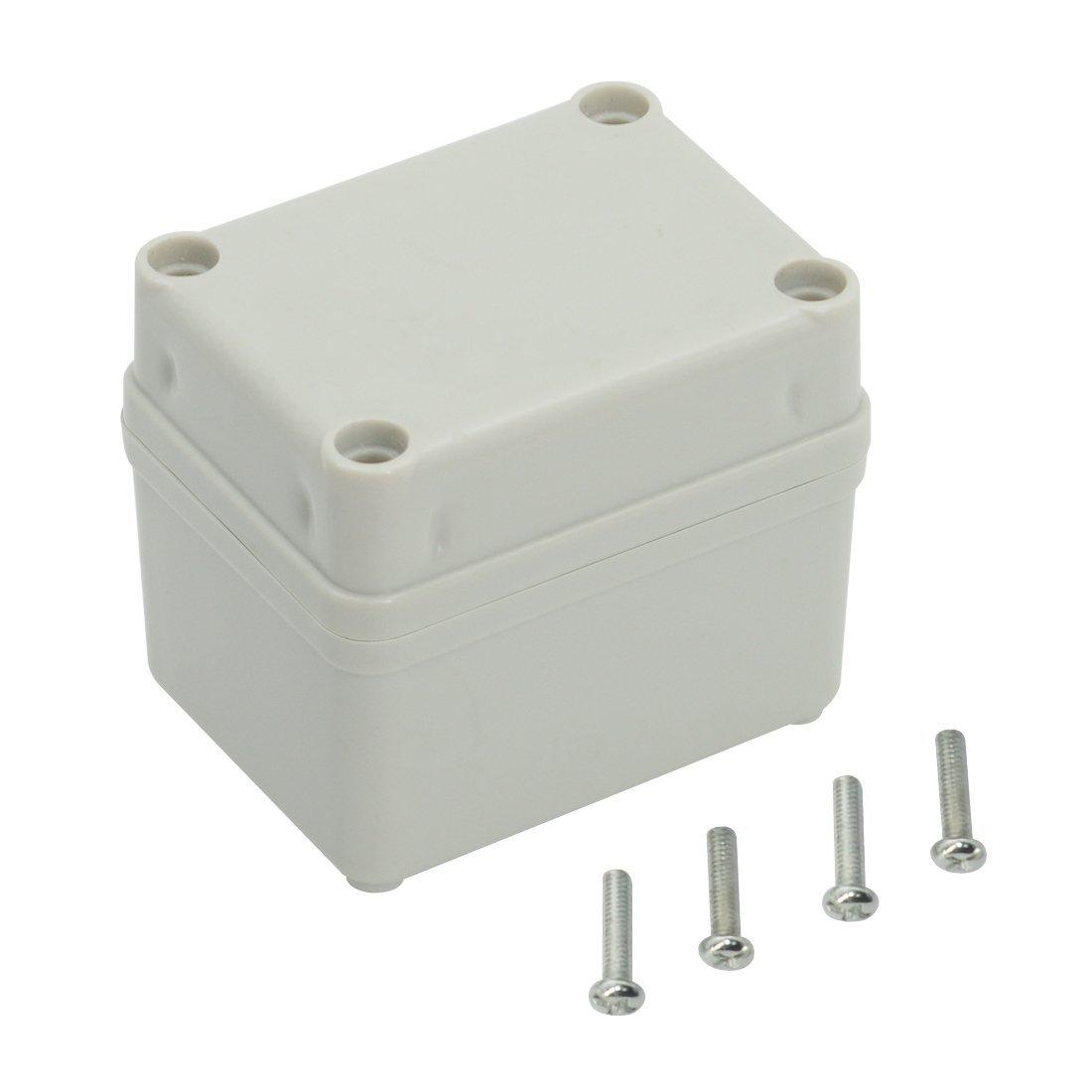 LeMotech Waterproof Dustproof IP67 Junction Box DIY Case Enclosure Gray 9.8' x 3.1' x 2.8'(250mm x 80mm x 70mm)
