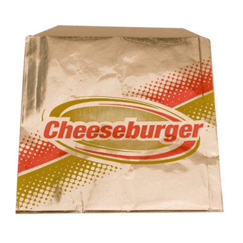 Brown Paper Goods Cheeseburger Foil Bag Silver, 6