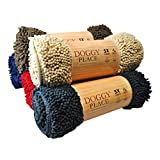 My Doggy Place - Ultra Absorbent Microfiber Dog Door Mat, Durable, Quick Drying, Washable, Prevent Mud Dirt, Keep Your House Clean (Oatmeal, Large) - 36 x 26 inch