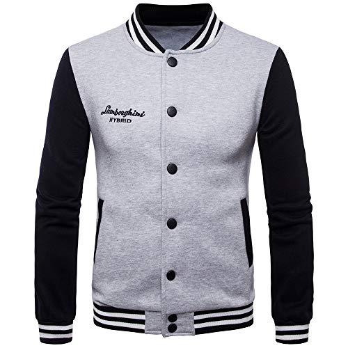 ANJUNIE Tee Blouse Lover's Autumn Winner Long Sleeve Splicing Sweatshirt Top Jacket Coat(Gray,XL)