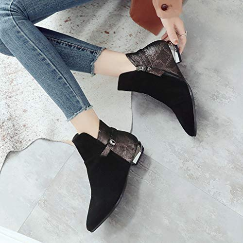 Pelle amp; Stivali In Donna Casual Hy Autunno Cavaliere Evening Stivaletti Scarpe Party Nero Dimensioni inverno Carriera Donna Flat Di Ufficio New Grandi Da Comfort E qnwztB
