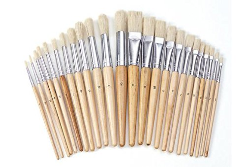 Colorations Best Value Easel Paint Brush Assortment - Set of 24 (Item # FULLSET)