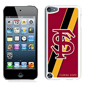 Hot Sale iPod Touch 5 Cover Case Atlantic Coast Conference ACC Footballl Florida State Seminoles 1 Protective Cell Phone Hardshell Cover Case For iPod Touch 5 White Unique And Durable Designed Phone Case