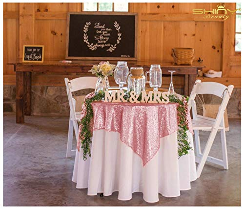 50x50 Square Fushia Pink Sequin Tablecloth Select Your Color & Size Can Be Available ! Sequin Overlays, Runners, Gatsby Wedding, Glam Wedding Decor, Vintage Weddings