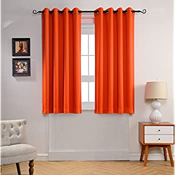 Amazon.com: Mysky Home Grommet top Thermal Insulated Window Blackout ...