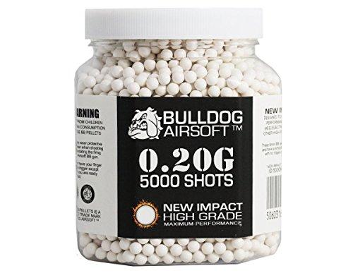 Bulldog 0.20G 5000 Impact High Grade White Bb Pellets Bb Bullets by Bulldog