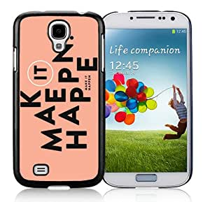 DIY Hot Sale Samsung Galaxy S4 Case,Kate Spade 151 Black New Design Samsung Galaxy S4 I9500 Phone Case
