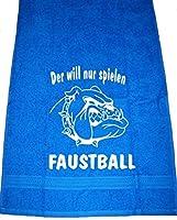 Der will nur spielen - Faustball; Handtuch Sport, royalblau