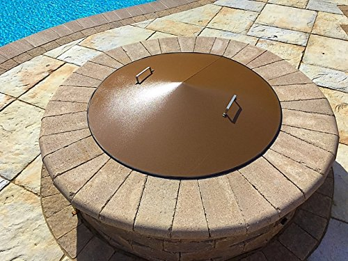 37' Round Wood-Gas Metal Fire Pit Campfire Ring Cover Lid Spark Screen