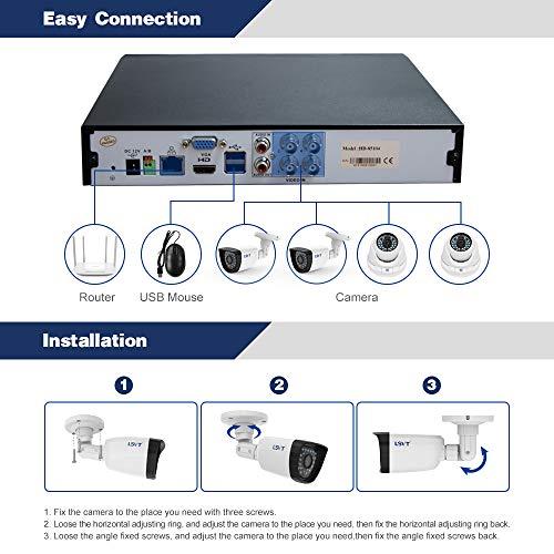 FREECAM 4CH CCTV System 720P HDMI AHD CCTV DVR 4PCS 1.0 MP IR Outdoor Home Security Camera 1200 TVL Camera Surveillance Kit by Freecam (Image #1)