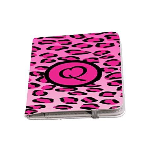 "Rikki Knight Letter ""Q"" Hot Pink Leopard Print Monogrammed Design Neoprene Clutch Wristlet with Matching Passport Holder"