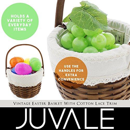 Easter egg basket wooden holiday gift basket for easter decoration easter egg basket wooden holiday gift negle Images
