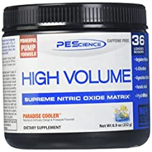 PEScience - High Volume - Pre-Workout Supplement - Supreme Nitric Oxide Matrix  -  36 Scoops (Paradise Cooler)