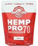 Manitoba Harvest Hemp Pro 70 Protein Powder, 32oz; with 20g Protein per Serving, Non-GMO