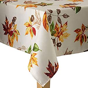 Amazon Com Scattered Autumn Leaves Fall Woven Fabric