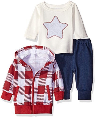 isaac-mizrahi-boys-3pc-hooded-zip-front-cardigan-longsleeve-top-and-pant-set-rustic-red-3-6-months