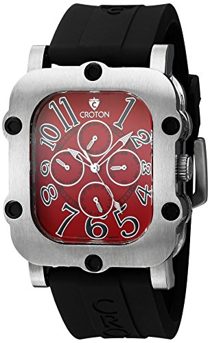 Croton Mens Quartz Watch - CROTON Men's CN307529BSRD INDUSTRIAL Analog Display Quartz Black Watch