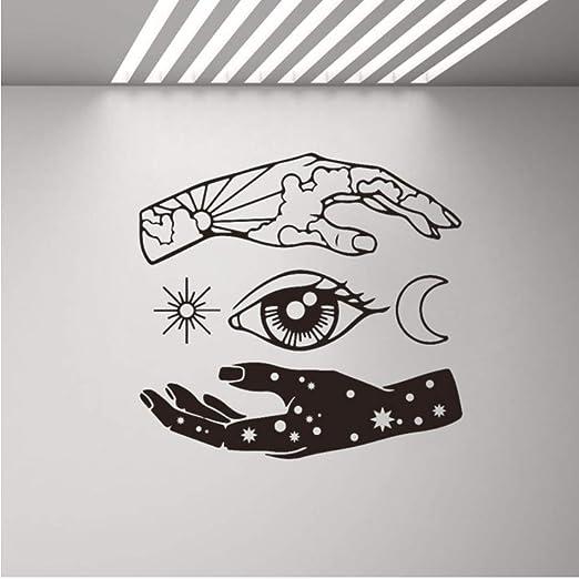 Dalxsh Mano Luna Ojo Del Sol Estrella Tatuajes De Pared Arte De ...