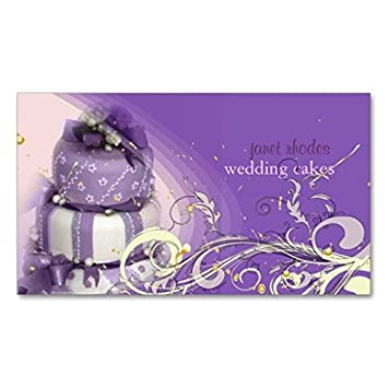 Lilas Lavande Gateau De Chocolat Boulangerie Carte Visite Standard