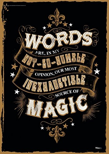 "MightyPrint Harry Potter - Magic Words - Quote - Unique 17"" x 24"" Wall Art - NOT Made of Paper - Movie Collectible"