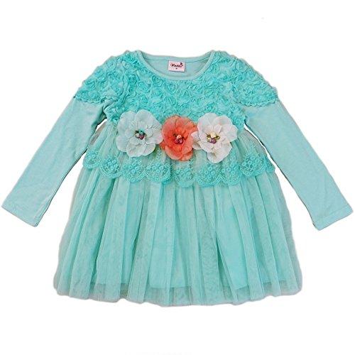 3d embellished flower dress - 3
