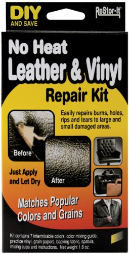 Master Manufacturing ReStor-it No Heat Leather & VinyI Repair Kit, Seven Colors, Repairs Burns, Holes, Rips Furniture, Couchs, Seats (18073)