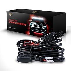 Auxbeam LED Light Bar Wiring Harness Kit...