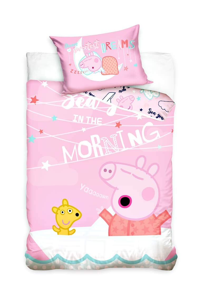 Carbotex Peppa Pig Pink Baby Bed Linen 100x135 cm