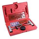 Alloet 56pcs Universal Heavy Duty Tire Repair Tools Kit for Motorcycle ATV Car