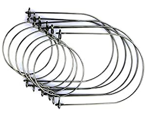 Stainless Steel Wire Handles for Mason, Ball, Canning Jars (6 Pack, Regular Mouth)