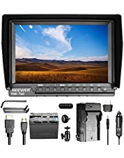 Neewer LCD-Monitor mit hoher Auflösung: 1920x1200 / Lithium-Batterien/Ladegerät für Spiegelreflexkamera Sony Canon Nikon Olympus Pentax Panasonic