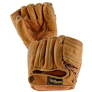 1959 New York Yankees Autographed Al Kaline Baseball Glove with 27 Signatures JSA Certified Autographed MLB Gloves