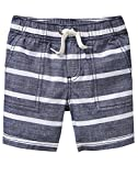 Crazy 8 Toddler Boys' Casual Drawstring Short, Chambray Stripe, 4T