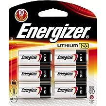 Energizer EL123BP-6 Ultimate Lithium 3 Volts Photo Battery 123, 6-Pack