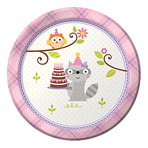 Creative Converting 8 Count Paper Dessert Plates, Happi (Cute Halloween Desserts For Kids)