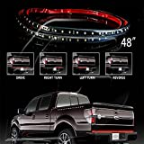 "49"" Auto Tailgate LED Light Bar Red White Reverse Stop Running Brake Turn Signal"