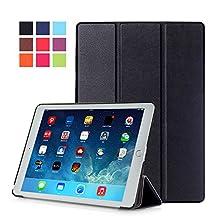 Protection Housse pour Apple iPad Air 2 9.7 Pouce Smart Slim Case Book Cover Stand Flip iPad 6 (Noir) NEUF