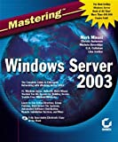 img - for Mastering Windows Server 2003 book / textbook / text book