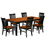 East West Furniture LGWE7-BCH-W Logans, 7 Pieces, Black And Cherry Review