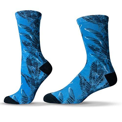 - Unisox Floral Socks - Tropical Palm Tree Beach Socks - Leaf Me Be