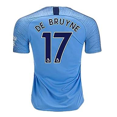 outlet store 61e26 b1d50 DMASZYHGSG Manchester City Home Mens Jerseys De Bruyne #17 Soccer Jersey  2018-2019 Season Color Blue