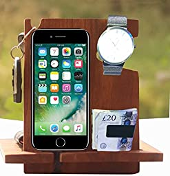 Best deal - Rose Wood Android Docking Station, 50th Anniversary Gifts for Couple , Funny Fathers Day Gifts, iPhone 6s plus, 6s, 6 plus, 6, 5, 5s, 4, Samsung Galaxy (For Daily Use)