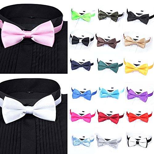 Verlike Tie Bow Plain Black Polyester Bowtie Men's Tied Tie Pre Wedding Fashion Fashion Suits qqaSpnxBH