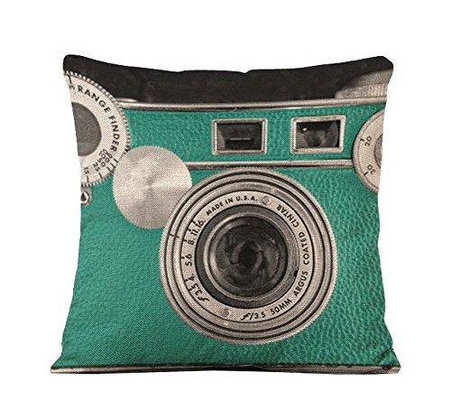 Camera Lens Pattern Green Sofa Car Home Decorative Pillow case 18
