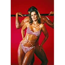 Priscilla Presley sexy oiled body working out skimpy swimsuit 24x36 Poster