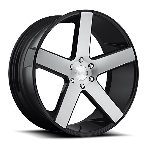 DUB BALLER RBL-Gloss BLK BSH Wheel with Painted (24 x 10. inches /6 x 139 mm, 30 mm Offset)