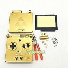 Gametown NEW Full Housing Shell Pack Case Cover for GBA SP Gameboy Advance SP Zelda Triforce Glod